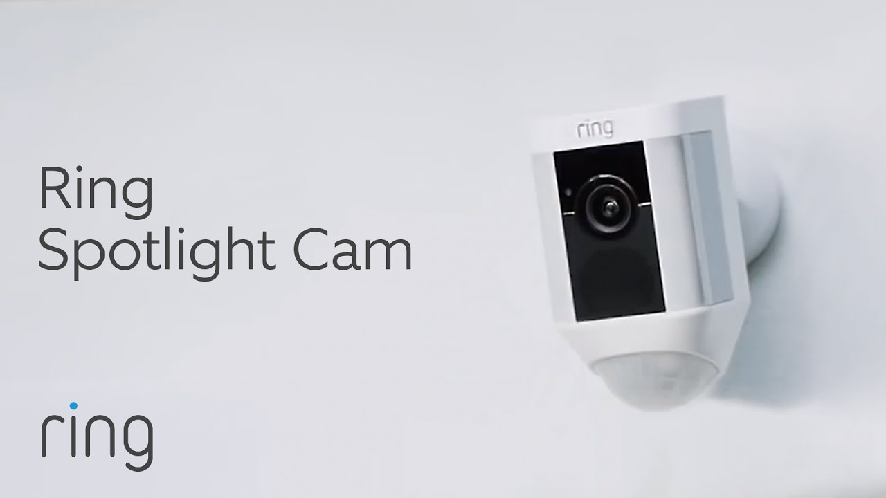 Ring Spotlight Cam   1080 HD Video Smart Home Security with Motion LED  Lights - YouTube
